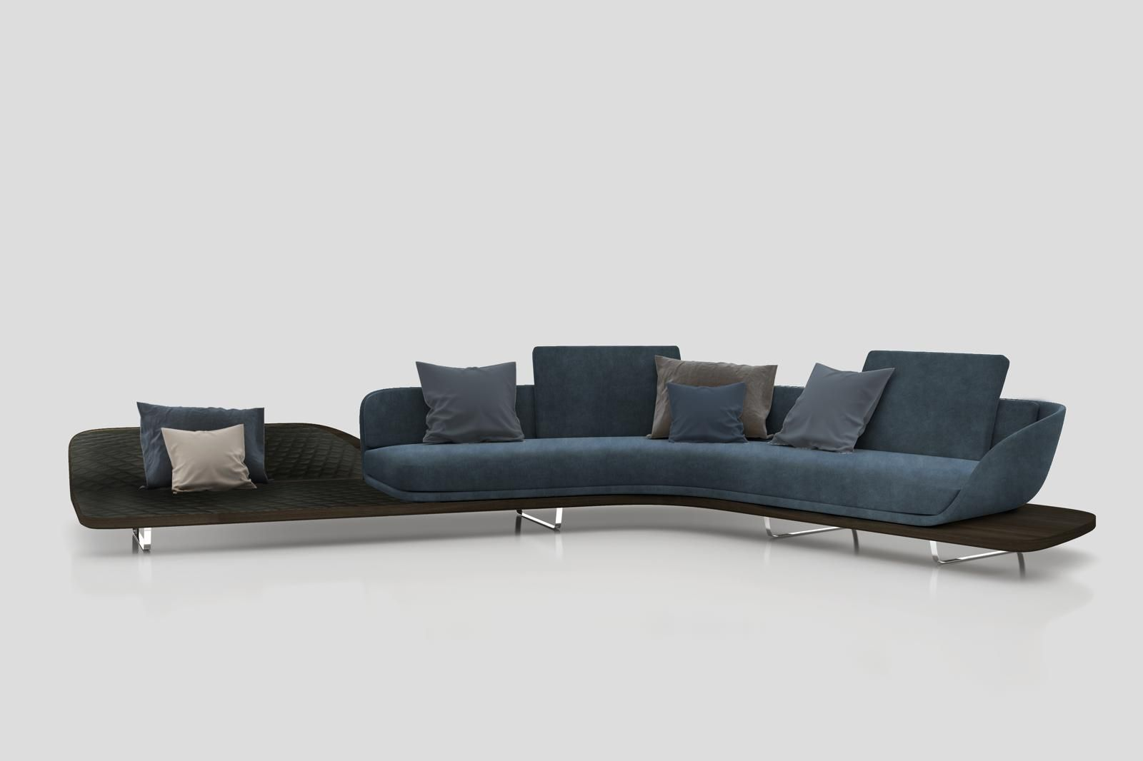 Pininfarina Home Design Segno Sofa Chaise Longue Italian Furniture Modern Luxury Sofa Chaise Sofa