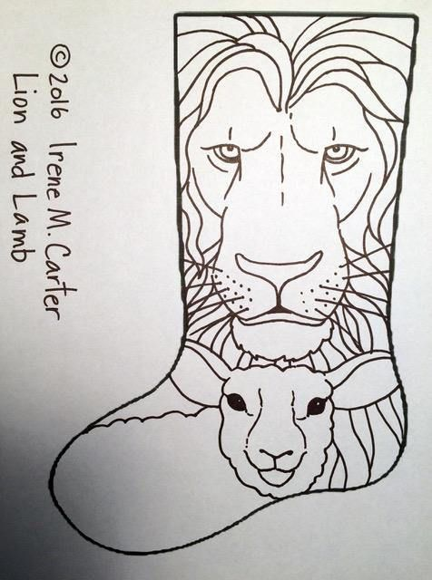 Lion and Lamb | xmas crafts | Pinterest | Bordado y Dibujo