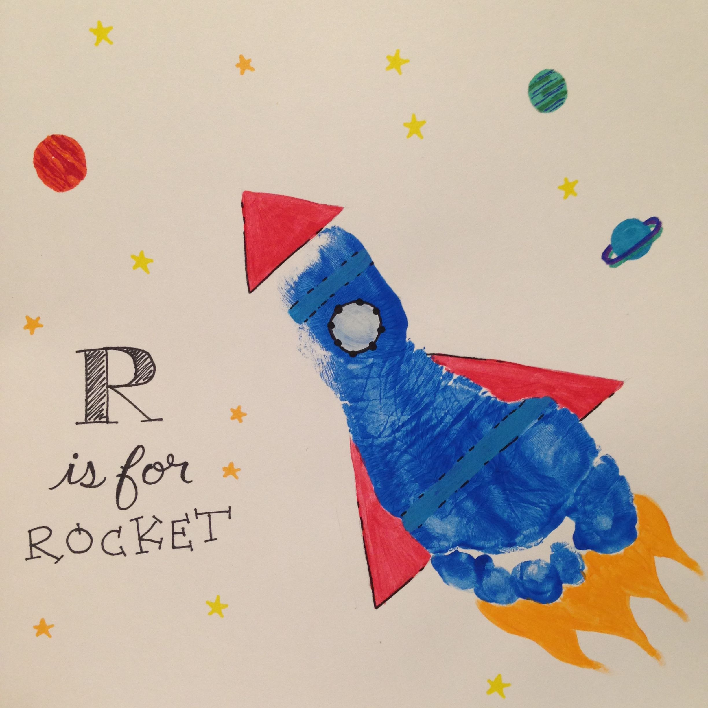 R Is For Rocket Footprint With Images