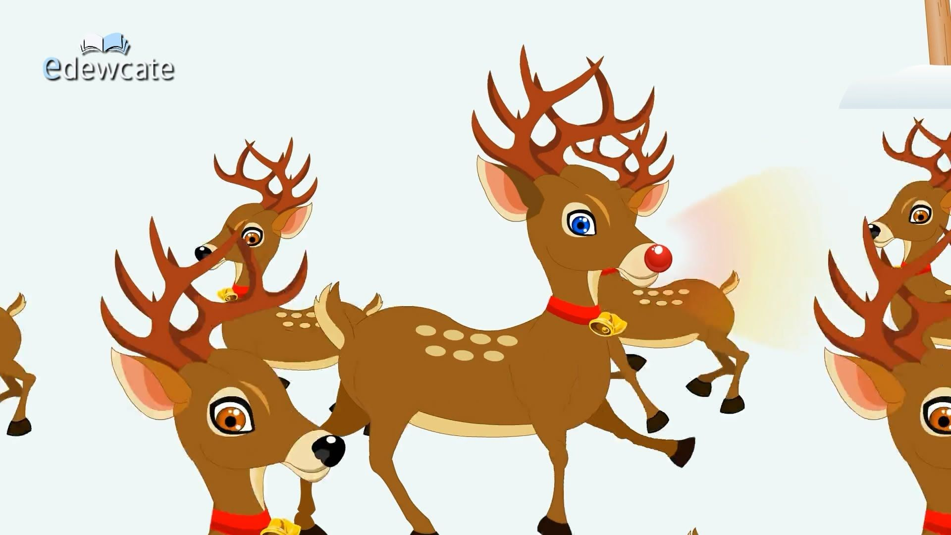 Rudolph the RedNosed Reindeer popularly known as Santas ninth reindeer is a fabled reindeer created by Robert Lewis May Rudolph is usually depicted as the lead
