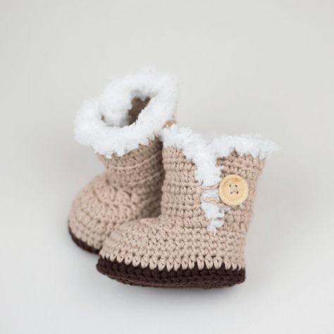 Crochet Pattern Crochet Baby Ugg Inspired Baby Booties Baby
