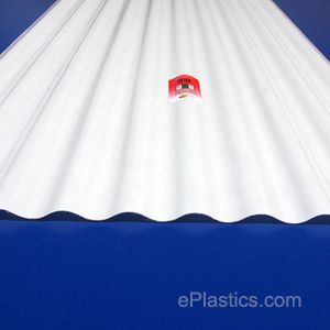 6 Oz White Corrugated Fiberglass 26 X 96 Sheet Corrugated Fiberglass Plastic Sheets