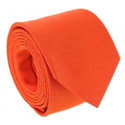 add2231095ed8 Cravate orange en soie nattée The Nines - Saint Honoré II #cravate #orange #