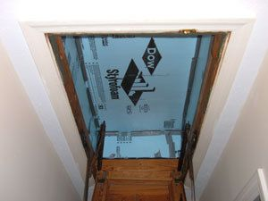 Insulating Hideaway Stairs Attic Renovation Attic Storage Attic Flooring
