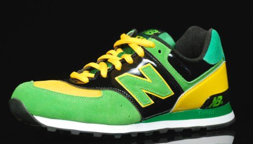 new balance 574 green red flag