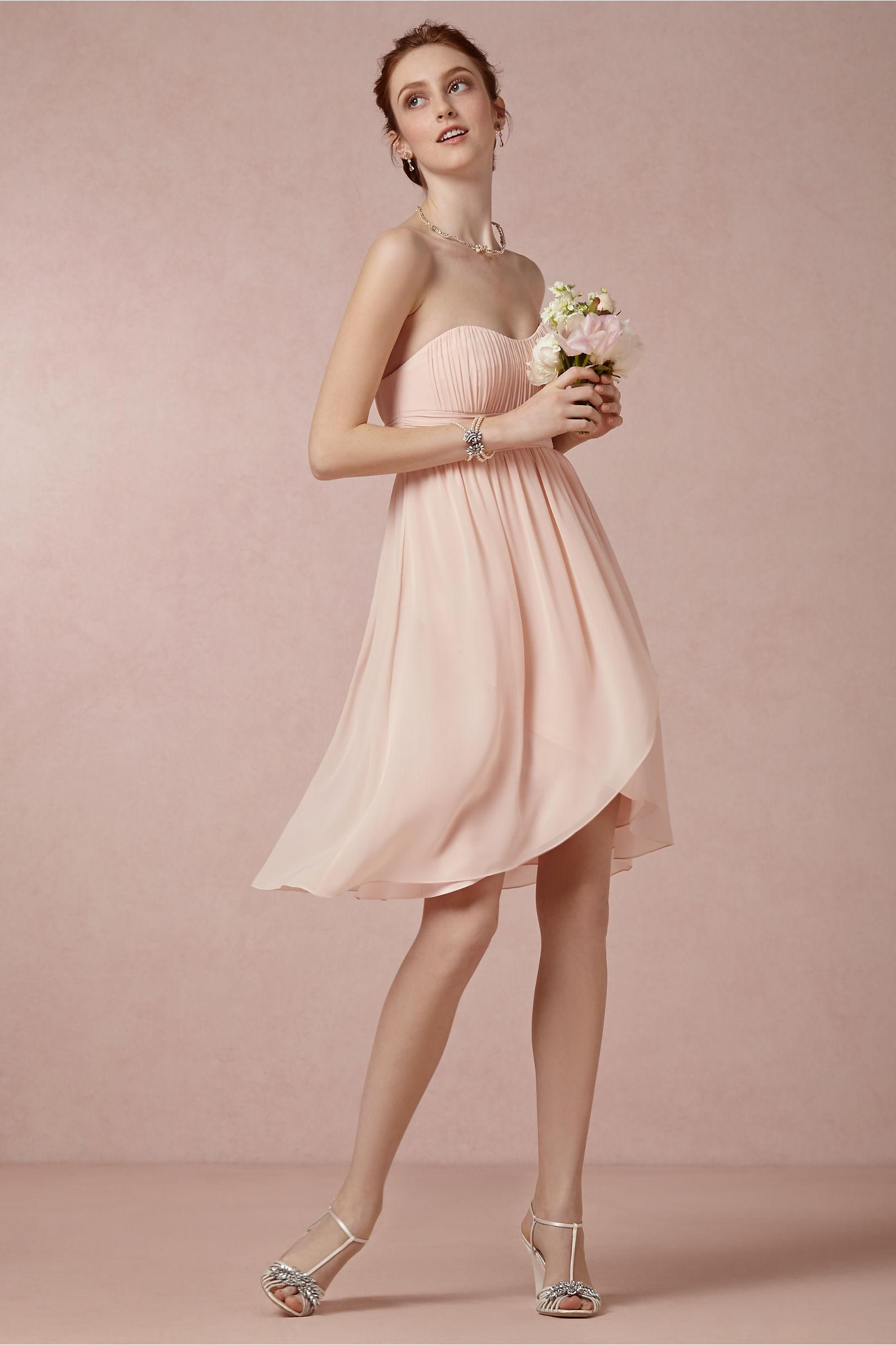 product | Alice Dress in Rose from BHLDN | strapless, light pink ...