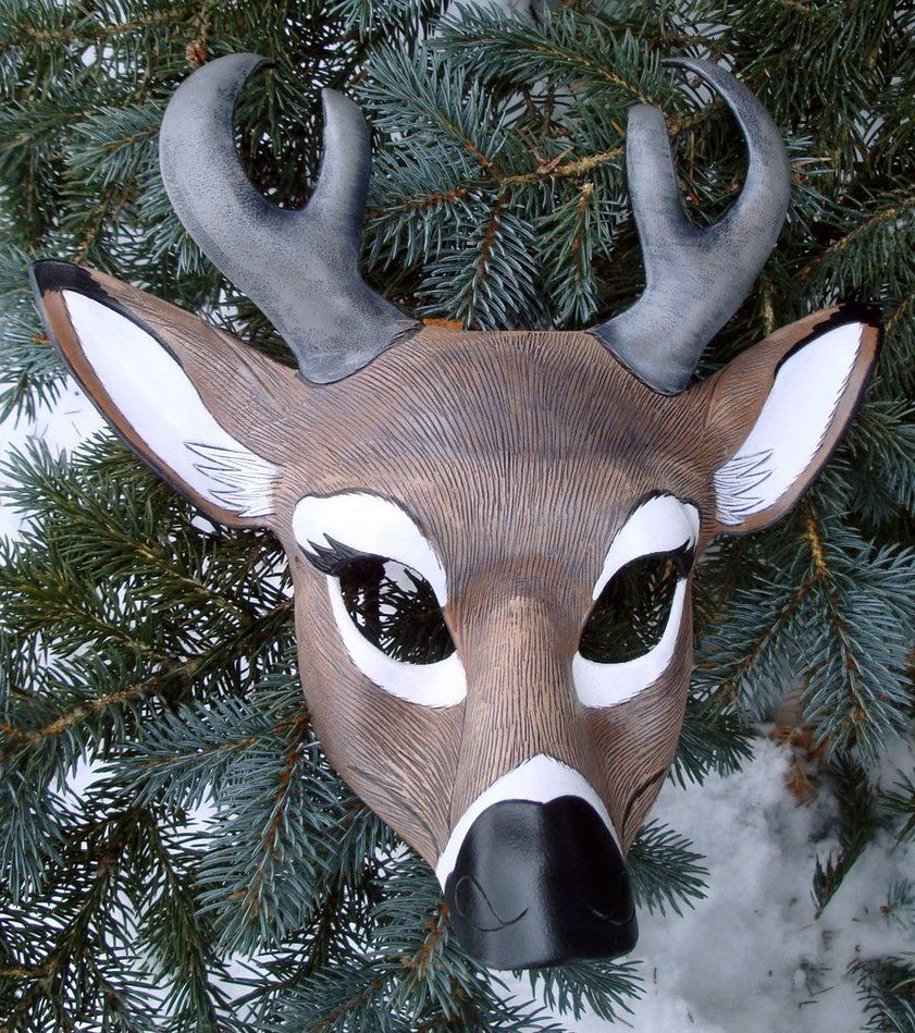 Doe. A Deer. A Female Deer! > Deer Mask. Animal Mask. Fancy Dress ...