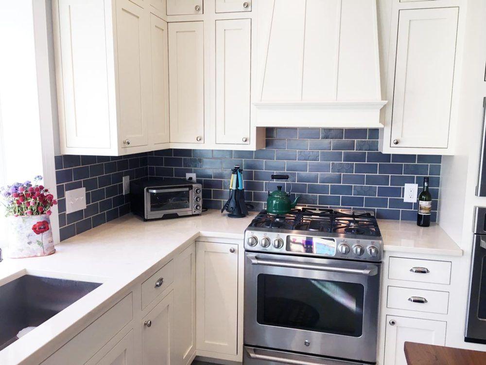 4 Kitchen Splashback Tiles Blue Backsplash Kitchen Kitchen Tiles