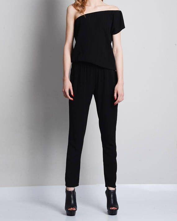 664b208c80d Cotton Black Off Shoulder Jumpsuit