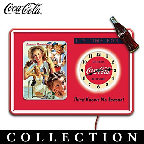 It's Time For Coca-Cola Wall Clock Collection