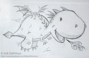 cute baby dragon sketch by erikdeprince school pinterest