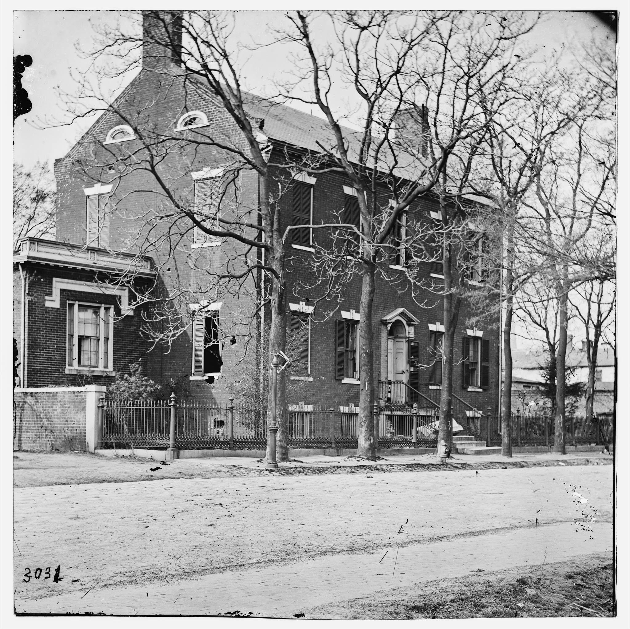Petersburg Virginia Civil War Damaged House On Bollingbrook
