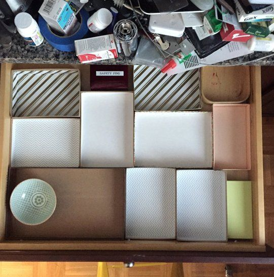 Before After How I Transformed My Junk Drawer Without Ing A Single Organizer