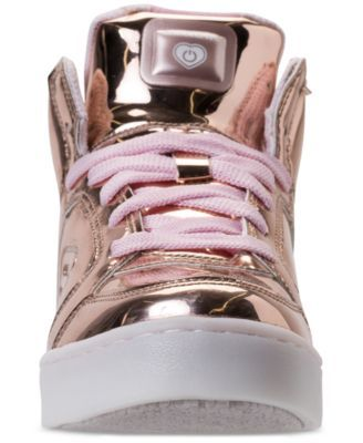 on sale 48652 500fb Skechers Girls  S Lights  Energy Lights Light-Up High-Top Casual Sneakers  from Finish Line - Gold 6.5