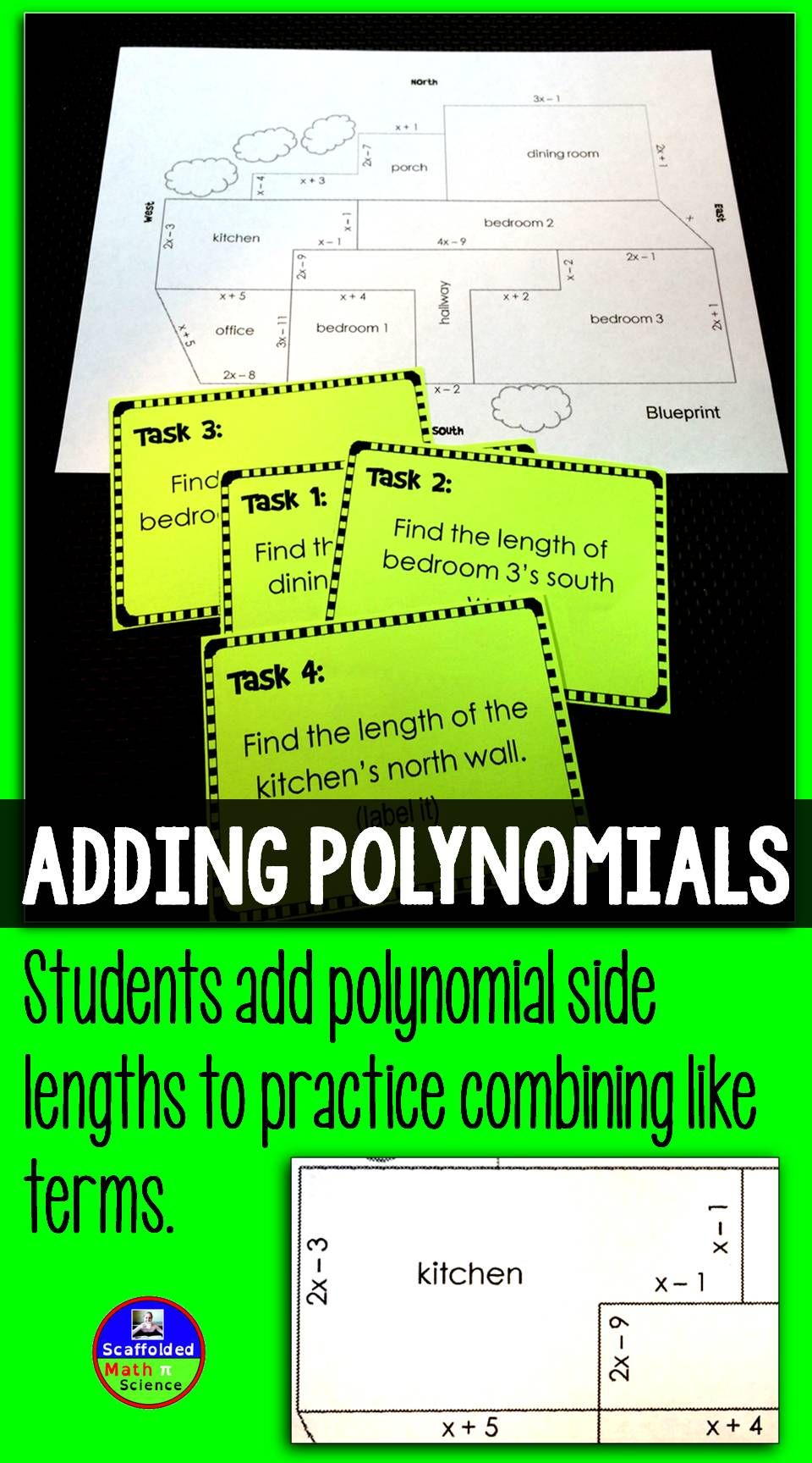 Adding polynomials blueprint activity pinterest algebra math a fun way to practice adding polynomials malvernweather Images