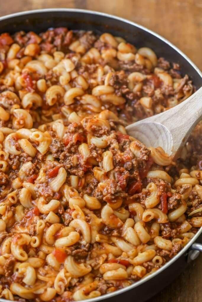 Easy Cheesy Beef Goulash Recipe Video Lil Luna Recipe Goulash Recipes Beef Goulash Crockpot Recipes Easy