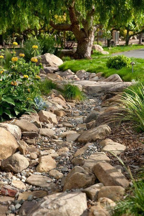 Dry Creek Bed Idea-lower 40 | Project-Sebastopol, My Garden ...