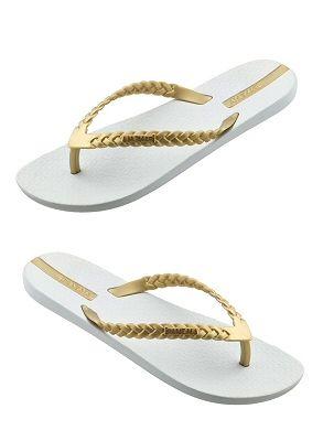 Lightweight Braided Strap Flip Flop Sandals for Girls