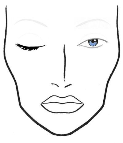 picture regarding Printable Face Charts known as Blank Mac Encounter Charts blank make-up Facial area Templates in just 2019