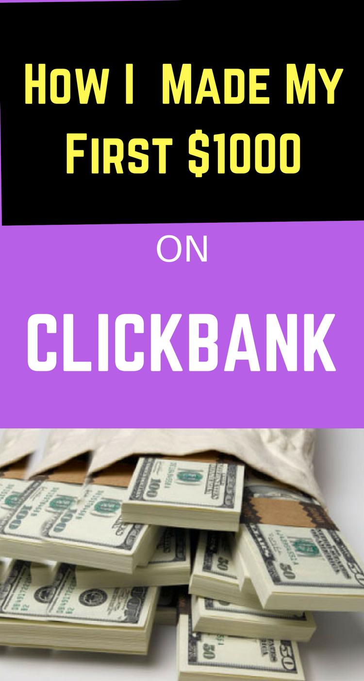 Wie ich meine ersten 1000 Dollar bei Clickbank gemacht habe   – Internet Marketing for Beginners