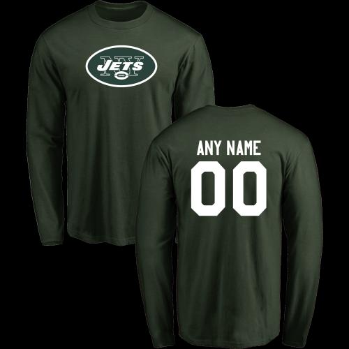 innovative design 24a37 53a7e Men New York Jets Design-Your-Own Long Sleeve Custom NFL T ...