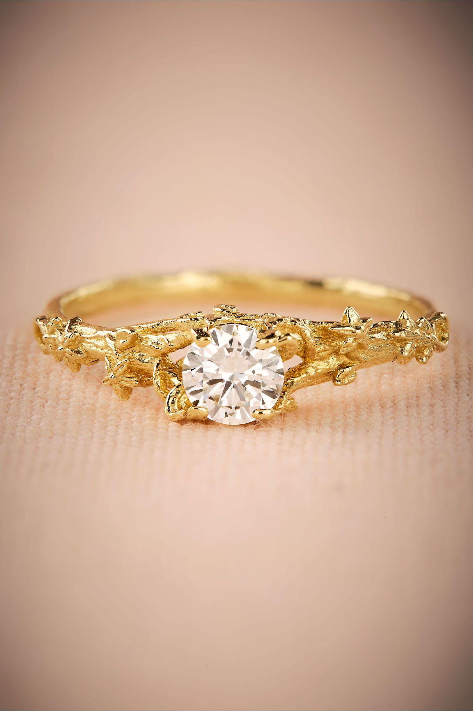 Vigne Diamond Engagement Ring From Bhldn