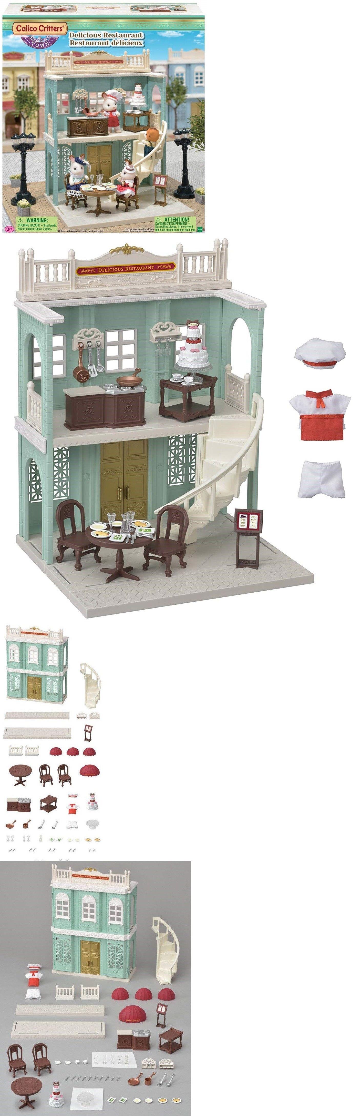 Playmobil 19854: Calico Critters Delicious Restaurant Building Set ...