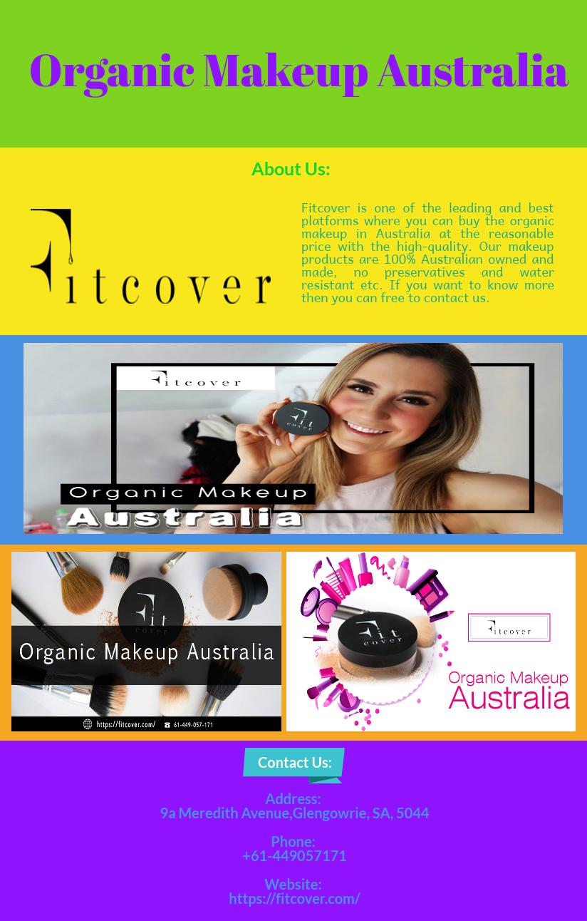 If you want to buy the organic makeup in Australia then