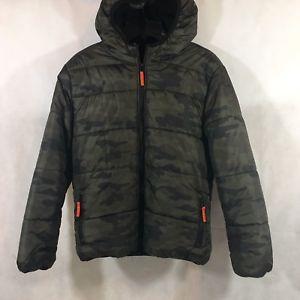21da48dc6b197 Simply Styled Boys Husky Winter Coat Black Camouflage Size LH(14-16)  PreOwned | eBay
