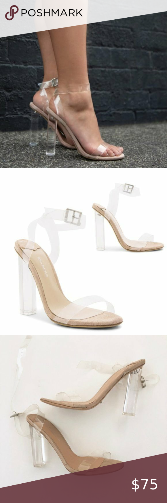white clogs with transparent upper heel 13 K94377 BIANCO