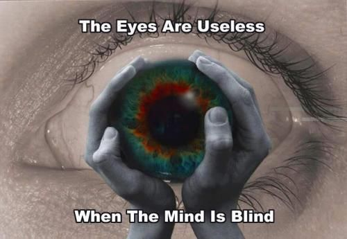 The eyes are useless , when the mind is blind
