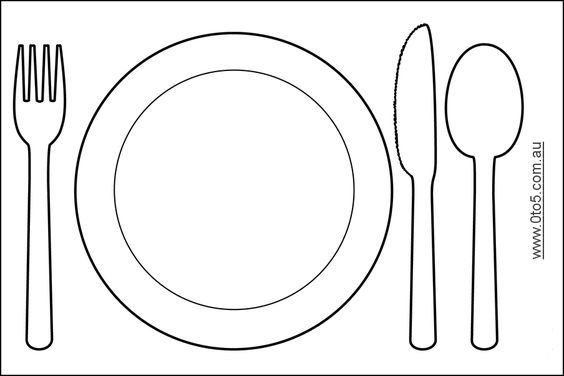 0to5 Template Plate And Silverware Placemats Kids Plate Mat