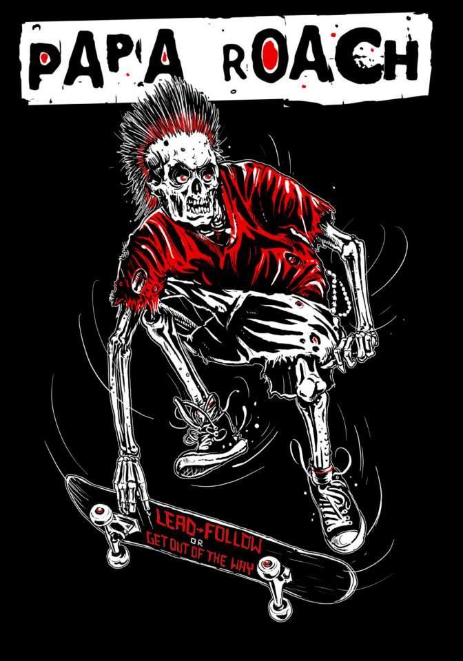 Papa Roach By Rafal Wechterowicz Papa Roach Papa Rock Music Quotes