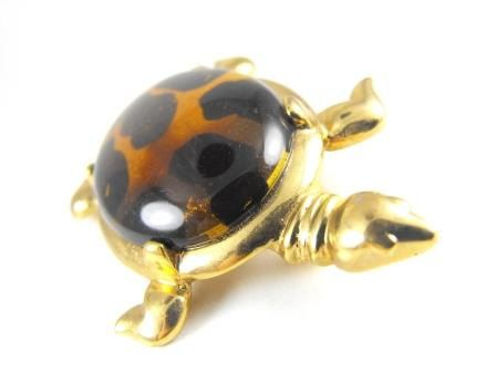 Lucite Shell Turtle Brooch From MJ Ent Classic by hipcricket, $25.00