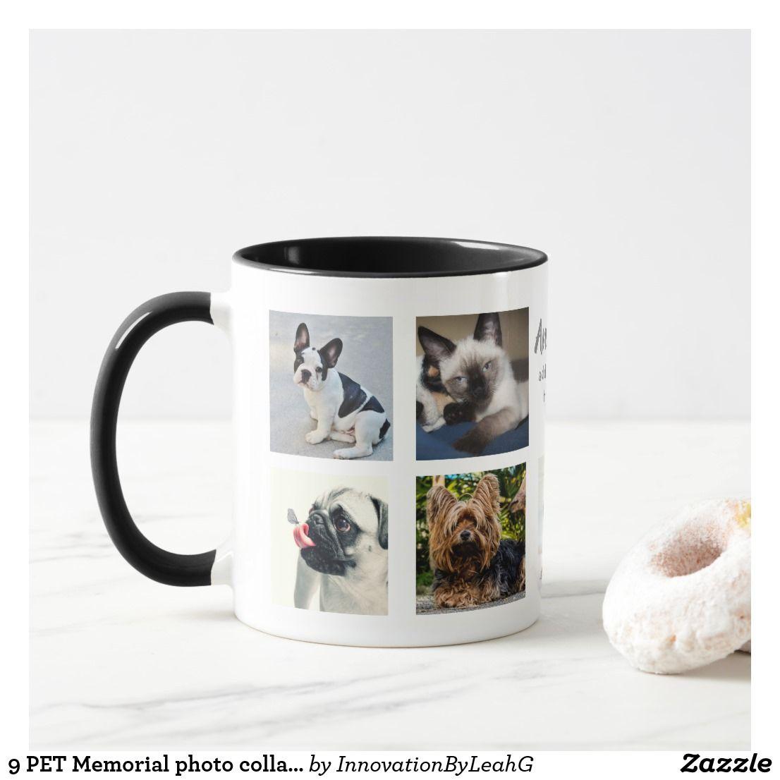 9 pet memorial photo collage instagram name gift mug