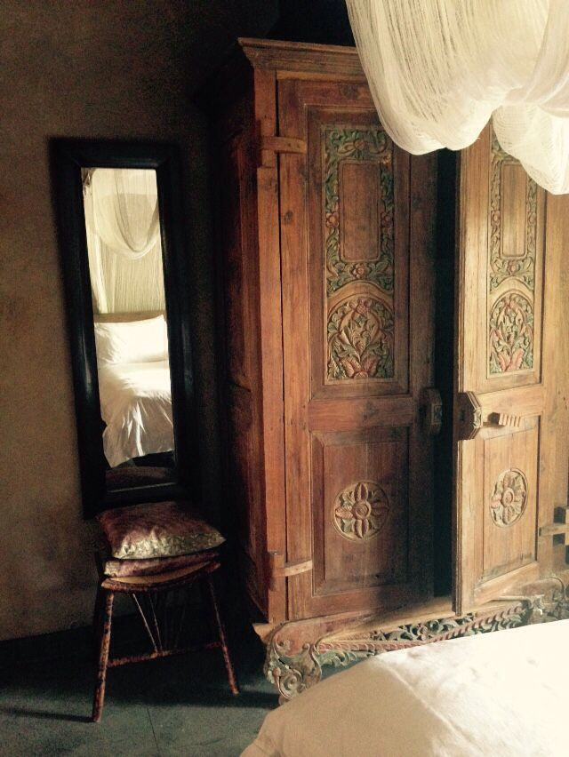 Bali house, wardrobe. Indonesian decor. Tropics