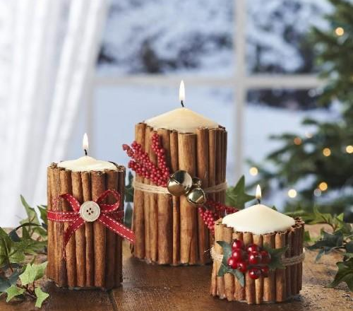 christmas table decor ideas scented cinnamon click pic for 29 christmas craft ideas - Christmas Candle Holders Decorations
