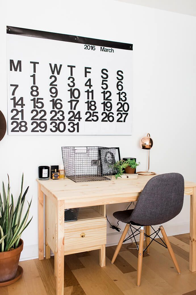 giant wall calendar bedroom wall home office styling glitterguide workspace design office workspace interior large step inside the sunny home of erin barrett interior inspiration