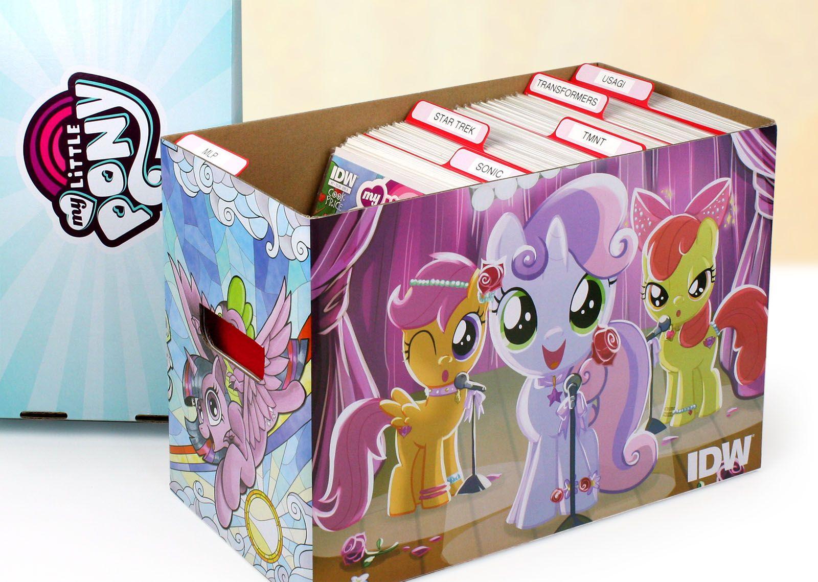 10 BCW Short Comic Book Boxes Pink Geek Art Cardboard Storage 150-175 Comics