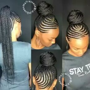 cornrows to afro puffs - Google Search # Braids afro curto