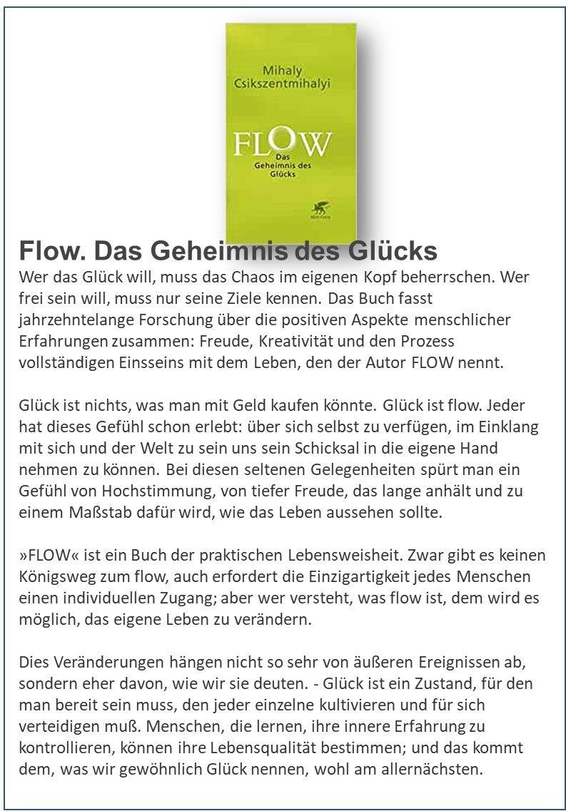 Flow Das Geheimnis Des Glucks Buch Tipps Bucher Gluck