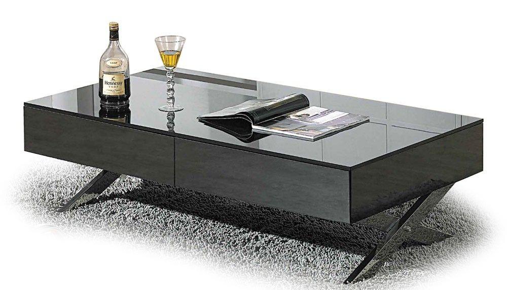 Modern High Glossy Gray Coffee Table Genoa Modern Coffee Tables