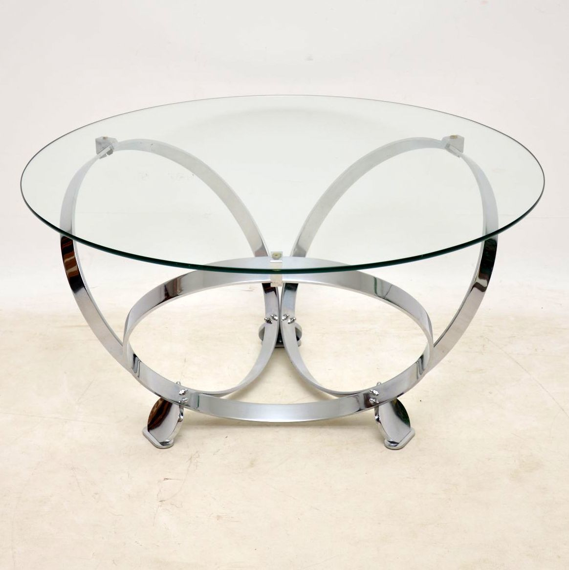 1970 S Chrome Glass Coffee Table By Knut Hesterberg Mobilya [ 1166 x 1164 Pixel ]