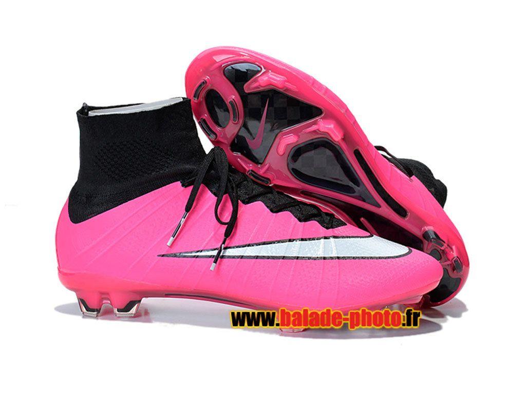 894e924f60b4c 2015 Dernières chaussures de football Nike Mercurial Superfly FG Crampons  rose blanc noir 5908