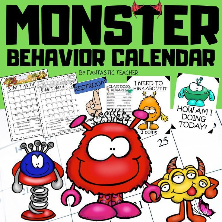 BEHAVIOR CALENDAR This Classroom Management and Behavior