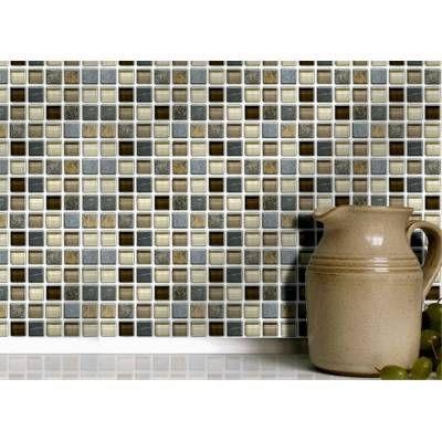 Stone Glass Mosaic 4 X 4 Tiles 10cm X 10cm Self Adhesive Wall Tiles Mosaic Glass Kitchen Wall Tiles