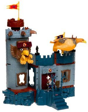 Imaginext Eagle Talon Castle Dragon Figures knights Ram weapons