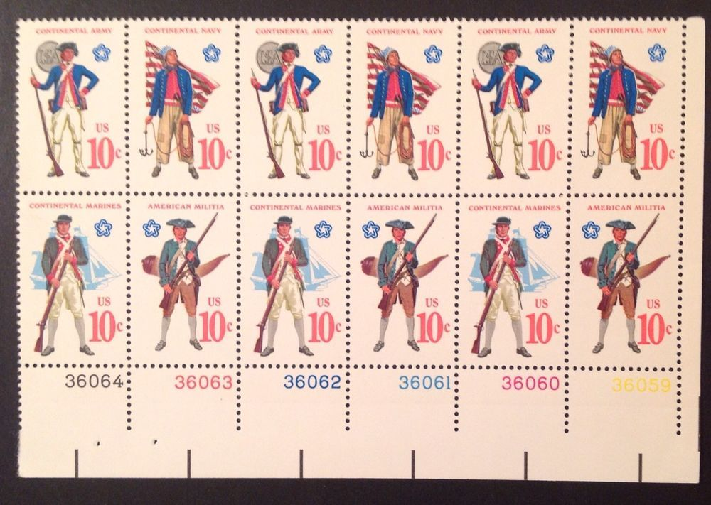U.S. Bicentennial Stamps, Revolutionary War Uniforms, 3