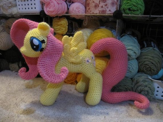 Fluttershy Pattern My Little Pony by NerdyKnitterDesigns on Etsy ...