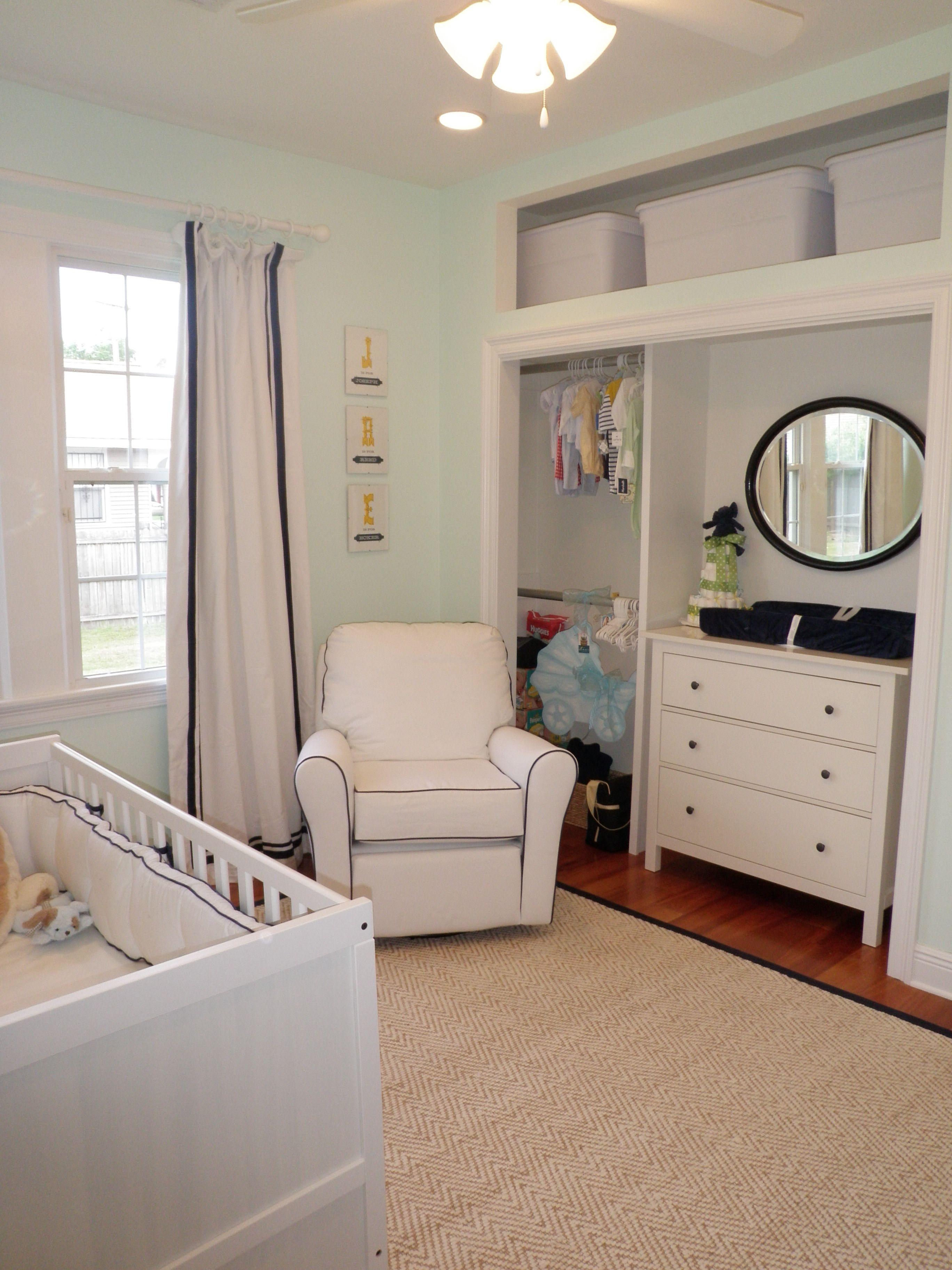 Finished Nursery! Ikea Hemnes Dresser, Little Castle Cottage Glider, PB Kids Chenille Jute Rug
